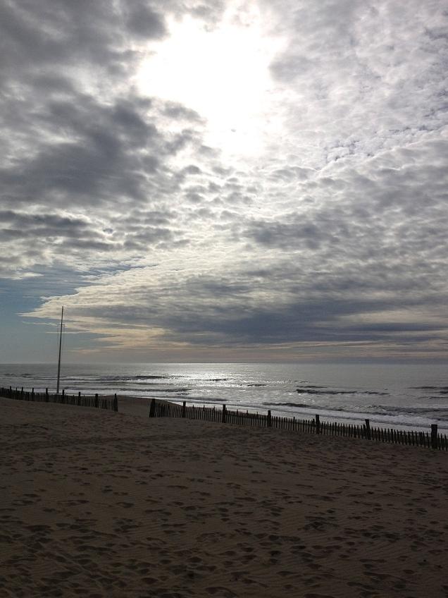 Remontée de plage à Soulac
