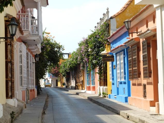 Les façades colorées de Cartagena de Indias