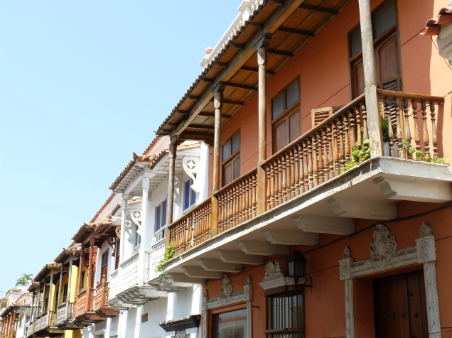 Les balcons de Cartagena (Colombie)